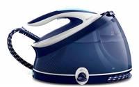 Philips PerfectCare Aqua PRO Ferro da Stiro con Caldaia, Tecnologia OptimalTEMP, 2100 W, 2.5 Litri, Blu/Bianco