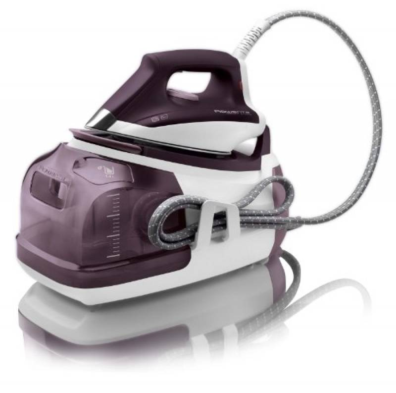 Rowenta DG8520 Perfect Steam Ferro da Stiro a Caldaia ad Alta Pressione, 1,4 litri, Piastra Microsteam 400, 5 Bar, Vapore variabile 0-120 g/min, 2400 W, Viola